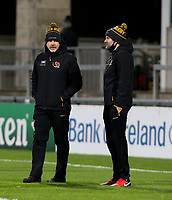 Sunday 22nd November 2020 | Ulster vs Scarlets<br /> <br /> Ulster Rugby Defence Coach Jared Payne and Ulster Head Coach Dan McFarland before the  Guinness PRO14 Round 7 clash between Ulster Rugby and Scarlets at Kingspan Stadium, Ravenhill Park, Belfast, Northern Ireland. Photo by John Dickson / Dicksondigital