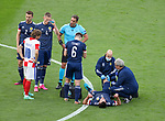 22.06.2021 Croatia v Scotland: Grant Hanley injured