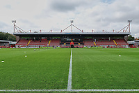 General view of the Main Stand of Crawley Town vs Morecambe, Sky Bet EFL League 2 Football at Broadfield Stadium on 17th October 2020