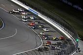 #18: Riley Herbst, Joe Gibbs Racing, Toyota Supra Monster Energy and #20: Harrison Burton, Joe Gibbs Racing, Toyota Supra Morton Buildings/DEX Imaging