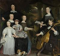 David Leeuw with his family - by Abraham van den Tempel, 1671