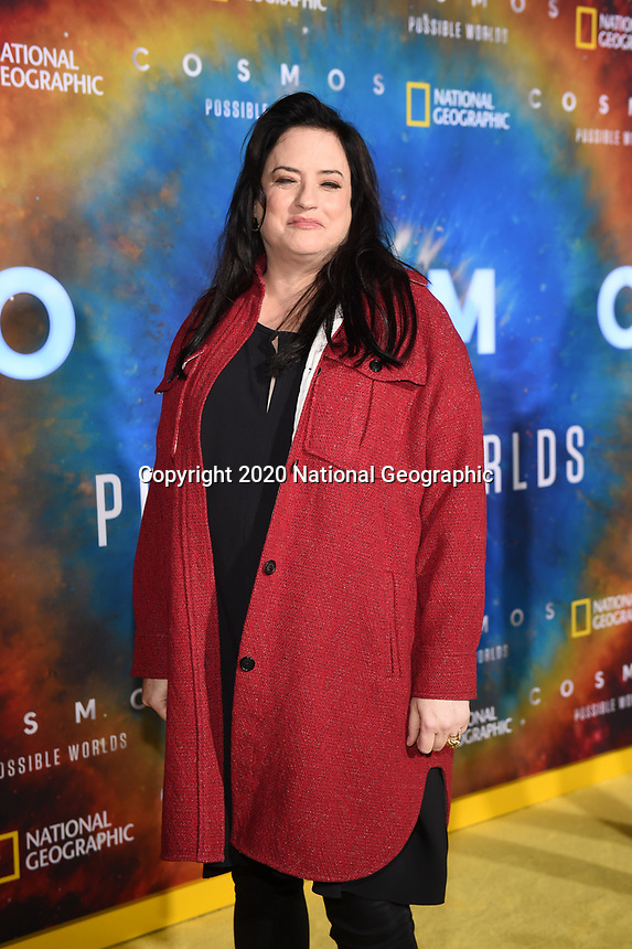 """LOS ANGELES - FEBRUARY 26: Co-executive producer Kara Vallow attends National Geographic's 2020 Los Angeles premiere of """"Cosmos: Possible Worlds"""" at Royce Hall on February 26, 2020 in Los Angeles, California. Cosmos: Possible Worlds premieres Monday, March 9 at 8/7c on National Geographic. (Photo by Frank Micelotta/National Geographic/PictureGroup)"""