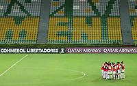 ARMENIA - COLOMBIA-28-04-2021: Independiente Santa Fe de Colombia y Fluminense de Brasil en partido por la fase de grupos, Grupo D, como parte de la Copa CONMEBOL Libertadores 2021 jugado en el estadio Centenario de la ciudad de Armenia. / Independiente Santa Fe of Colombia y Fluminense of Brazil in match for the group stage, Group D, as part of the Copa CONMEBOL Libertadores 2021 played at Centenario stadium in Armenia city.  Photo: VizzorImage / Pablo Bohorquez / Cont