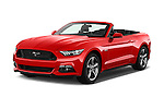 2016 Ford Mustang GT 2 Door Convertible Angular Front stock photos of front three quarter view