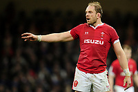 Alun Wyn Jones of Wales during the Guinness Six Nations Championship Round 3 match between Wales and France at the Principality Stadium in Cardiff, Wales, UK. Saturday 22 February 2020