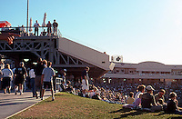 Ballparks: Sacramento Raley Field. Looking toward home from right, an hour before game time.
