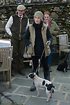 The Mayor of Troutbeck Hunt Day 2018. Terrier show after a days hunting outside the Queens Head pub,  Troutbeck Cumbria. Nick Mowbray joint Master and the newly elected Mayor of Troutbeck, Mrs Linda Maloney.