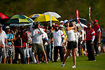 CHON BURI, THAILAND - FEBRUARY 19:  Michelle Wie of USA plays her second shot on the 18th hole during day three of the LPGA Thailand at Siam Country Club on February 19, 2011 in Chon Buri, Thailand. Photo by Victor Fraile / The Power of Sport Images