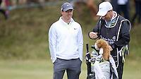 27 May 2015; Rory McIlroy and caddie J.P Fitzgerald<br /> <br /> Dubai Duty Free Irish Open Golf Championship 2015, Pro-Am. Royal County Down Golf Club, Co. Down. Picture credit: John Dickson / DICKSONDIGITAL