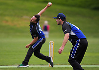 Action from the Hazlett Trophy Wellington premier men's division one cricket one-day match between Victoria University and Petone at Ngatitoa Domain in Wellington, New Zealand on Saturday, 24 October 2020. Photo: Dave Lintott / lintottphoto.co.nz