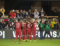 San Jose, Ca - Friday March 24, 2017: Clint Dempsey Team Celebration during the USA Men's National Team defeat of Honduras 6-0 during their 2018 FIFA World Cup Qualifying Hexagonal match at Avaya Stadium.