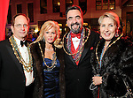 From left: Robert and Shelly Rudin with Mark and Sonia Moore at the Mardi Gras Ball at the Tremont House in Galveston Saturday Feb. 13,2010.(Dave Rossman Photo)
