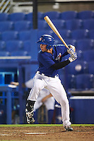 GCL Blue Jays catcher Owen Spiwak (59) at bat during the second game of a doubleheader against the GCL Phillies on August 15, 2016 at Florida Auto Exchange Stadium in Dunedin, Florida.  GCL Phillies defeated the GCL Blue Jays 4-0.  (Mike Janes/Four Seam Images)