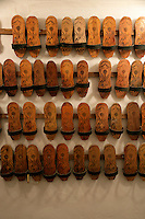 Clogs to be worn at the Cagaloglu Hamam, Istanbul, Turkey