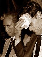 Pierre Trudeau  (L) Jean Chretien (R) in August 1984. Photo by Pierre Roussel / Images Distribution.