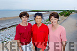 Sheila Sheehan, Deirdre Lawlor and Joan Griffin enjoying the beach in Fenit on Monday