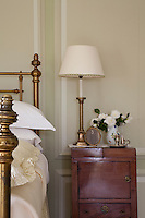 Detail of an antique bedside table/cabinet in one of the bedrooms