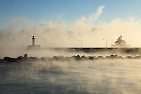 """Lighthouses in Sea Smoke""<br />