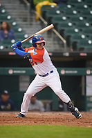 "Buffalo Bisons Patrick Kivlehan (14) at bat during an International League game against the Scranton/Wilkes-Barre RailRiders on June 5, 2019 at Sahlen Field in Buffalo, New York.  The Bisons wore special uniforms as they played under the name the ""Buffalo Wings"". Scranton defeated Buffalo 3-0, the first game of a doubleheader. (Mike Janes/Four Seam Images)"