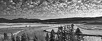 Clouds over Yellowstone River. Yellowstone National Park, WY