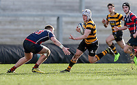 Monday 27th February 2017 | ULSTER SCHOOLS CUP SEMI-FINAL<br /> <br /> Michael Lowry is tackled by Stewart Moore during the Ulster Schools Cup Semi-Final between RBAI and Ballymena Academy  at Kingspan Stadium, Ravenhill Park, Belfast, Northern Ireland. <br /> <br /> Photograph by John Dickson | www.dicksondigital.com