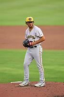 Bradenton Marauders pitcher Jared Jones (37) during a game against the Dunedin Blue Jays on June 5, 2021 at TD Ballpark in Dunedin, Florida.  (Mike Janes/Four Seam Images)