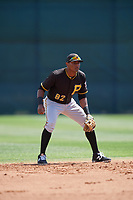 Pittsburgh Pirates Nelson Jorge (82) during a minor league Spring Training game against the Philadelphia Phillies on March 24, 2017 at Carpenter Complex in Clearwater, Florida.  (Mike Janes/Four Seam Images)