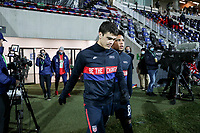WIENER NEUSTADT, AUSTRIA - NOVEMBER 16: Weston McKennie #8 and Giovanni Reyna #7 of the United States walking out during a game between Panama and USMNT at Stadion Wiener Neustadt on November 16, 2020 in Wiener Neustadt, Austria.