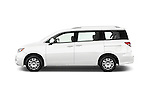 Car driver side profile view of a 2015 Nissan Quest s 5 Door Mini Van