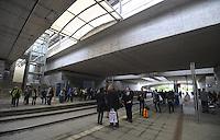 Vollsperrung des Hauptbahnhof Leipzig - 4 Tage Lang rollt kein Zug in den Kopfbahnhof ein oder aus - Zwischen Leipzig Messe und Hauptbahnhof wird ein Schienenersatzverkehr durch die LVB durchgeführt - im Bild: die Lage am Bahnhof Neue Messe.  Foto: Norman Rembarz