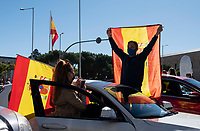 Anti government protest during National Day of Spain
