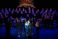 Gateway Men's Chorus presenting Band of Brothers show at Edison Theatre in St. Louis, MO on March 13, 2015.