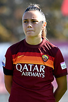 Annamaria Serturini of AS Roma during the women Serie A football match between AS Roma and ACF Fiorentina at Tre Fontane Stadium in Roma (Italy), November 7th, 2020. Photo Andrea Staccioli / Insidefoto
