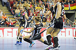 Berlin, Germany, February 10: During the FIH Indoor Hockey World Cup quarterfinal match between Germany (black) and Poland (red) on February 10, 2018 at Max-Schmeling-Halle in Berlin, Germany. Final score 3-1. (Photo by Dirk Markgraf / www.265-images.com) *** Local caption *** Anne SCHROEDER #8 of Germany, Lisa ALTENBURG #18 of Germany