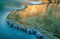 Travertine terraces <br /> Havasu Creek,  Havasu Canyon<br /> Havasupai Indian Reservation<br /> Colorado Plateau,  Arizona