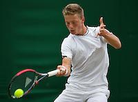 England, London, 28.06.2014. Tennis, Wimbledon, AELTC, Tim van Rijthoven (NED)<br /> Photo: Tennisimages/Henk Koster