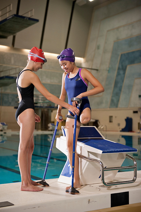 """03/12/2012- Cassidy Sheng (right) and Meghan (left)  featured in a photoshoot for the Canadian Paralympic Committee Recruitment Ad Campaign entitled """"It's More Than Sport"""". Photo Credit: Canadian Paralympic Committee/Frédéric Solenthaler"""