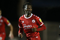 David Sesay of Crawley Town during Colchester United vs Crawley Town, Sky Bet EFL League 2 Football at the JobServe Community Stadium on 1st December 2020