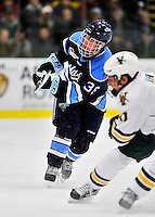 3 December 2011: University of Maine Black Bear forward Joey Diamond, a Junior from Long Beach, NY, in action against the University of Vermont Catamounts at Gutterson Fieldhouse in Burlington, Vermont. The Catamounts fell to the Black Bears 5-2 in the second game of their 2-game Hockey East weekend series. Mandatory Credit: Ed Wolfstein Photo