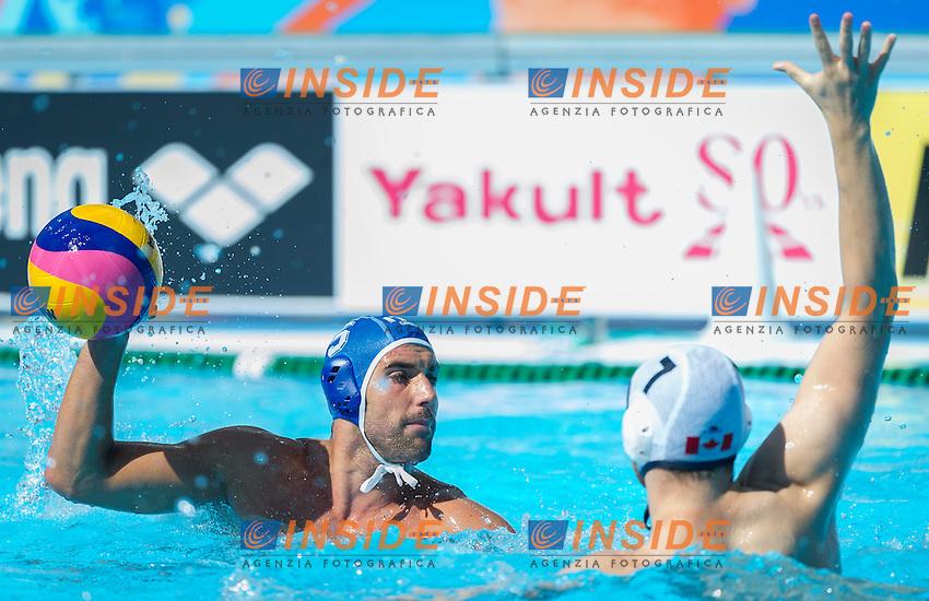 CAN-ITA<br /> Canada Vs Italy<br /> GIORGETTI Alex<br /> Day 10 02/08/2015<br /> XVI FINA World Championships Aquatics<br /> Waterpolo<br /> Kazan Tatarstan RUS July 24 - Aug. 9 2015 <br /> Photo Pasquale Mesiano/Deepbluemedia/Insidefoto