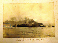 BNPS.co.uk (01202) 558833<br /> Pic: Charles Miller/BNPS<br /> <br /> HMS Terrible arriving in Hong Kong<br /> <br /> A fascinating photo album compiled by a British naval officer on tour in the Far East at the turn of the 20th century has come to light.<br /> <br /> Taprell Dorling served on the HMS Terrible in 1900 at the start of an over 30 year career at sea.<br /> <br /> The album, containing 74 photos, has emerged for sale with auctioneers Charles Miller, of London, with an estimate of £3,000.