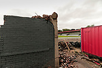 Salford City 2 FC United of Manchester 1, 15/07/2017. Moor Lane, Pre Season Friendly. The remnants of the old Main Stand at Salford FC. Salford City v FC United of Manchester in a pre season friendly at Moor Lane Salford. Photo by Paul Thompson.