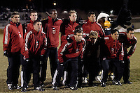 DC United's starting 11 pose for a photograph prior to the start of  the game.  D.C. United defeated Harbour View F. C. 2 to 1 in quarterfinals action of The CONCACAF Champions Cup at Maryland SoccerPlex, Boyds, MD, on March 9, 2005.