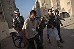 Remi OCHLIK/IP3 PRESS - On august, 25, 2011 In Tripoli - Rebels fighters in Abu Slim neighborhood against the last resistance of the Gadaffi loyalist forces, in Tripoli on August 25, 2011..