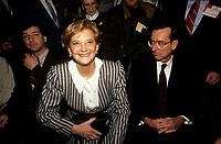 Andree Simard la conjointe du Premier ministre Robert Bourassa <br /> <br /> PHOTO : © Agence Quebec Presse
