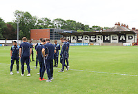 Wycombe Wanderers players before the Friendly match between Maidenhead United and Wycombe Wanderers at York Road, Maidenhead, England on 30 July 2016. Photo by Alan  Stanford PRiME Media Images.