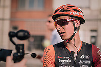 "post-race face<br /> <br /> Antwerp Port Epic 2018 (formerly ""Schaal Sels"")<br /> One Day Race:  Antwerp > Antwerp (207 km; of which 32km are cobbles & 30km is gravel/off-road!)"