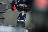 Sitzung des Deutschen Bundestag am Mittwoch den 4. Maerz 2020.<br /> Im Bild: Bundesgesundheitsminister Jens Spahn (CDU) waehrend der Regierungserklaerung zum Coronavirus.<br /> 4.3.2020, Berlin<br /> Copyright: Christian-Ditsch.de<br /> [NUR FUER REDAKTIONELLE ZWECKE! Werbung nur auf Anfrage beim Fotografen. Inhaltsveraendernde Manipulation des Fotos nur nach ausdruecklicher Genehmigung des Fotografen. Vereinbarungen ueber Abtretung von Persoenlichkeitsrechten/Model Release der abgebildeten Person/Personen liegen nicht vor. NO MODEL RELEASE! Don't publish without copyright Christian-Ditsch.de, Veroeffentlichung nur mit Fotografennennung, sowie gegen Honorar, MwSt. und Beleg. Konto: I N G - D i B a, IBAN DE58500105175400192269, BIC INGDDEFFXXX, Kontakt: post@christian-ditsch.de<br /> Bei der Bearbeitung der Dateiinformationen darf die Urheberkennzeichnung in den EXIF- und  IPTC-Daten nicht entfernt werden, diese sind in digitalen Medien nach §95c UrhG rechtlich geschuetzt. Der Urhebervermerk wird gemaess §13 UrhG verlangt.]