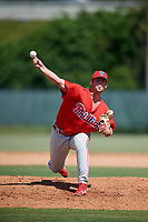 Philadelphia Phillies pitcher Blake Bennett (66) delivers a pitch during a Florida Instructional League game against the Atlanta Braves on October 5, 2018 at the Carpenter Complex in Clearwater, Florida.  (Mike Janes/Four Seam Images)