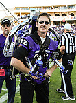 The Rocket Man flies in and delivers the game ball  before the game between the Grambling State Tigers and the TCU Horned Frogs  at the Amon G. Carter Stadium in Fort Worth, Texas. TCU defeats Grambling State 59 to 0.